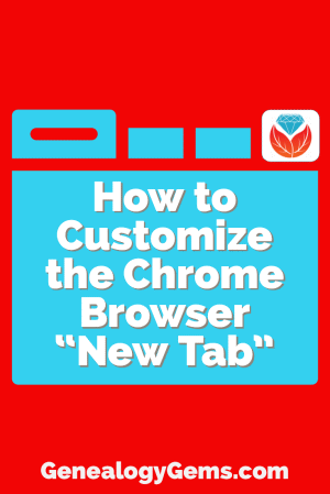how to customize the chrome browser New Tab