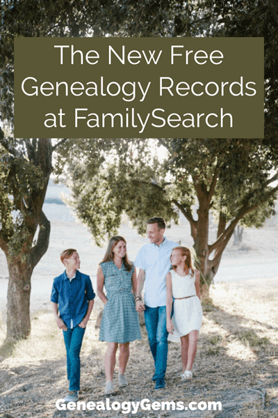 new genealogy records at FamilySearch
