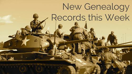 New Genealogy Records this Week Nov. 8, 2019