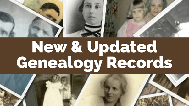 Recent Updates: Online Genealogy Records at MyHeritage, Ancestry and Findmypast