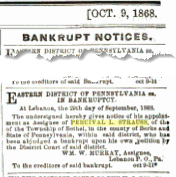 Bankruptcy notice in Google Books