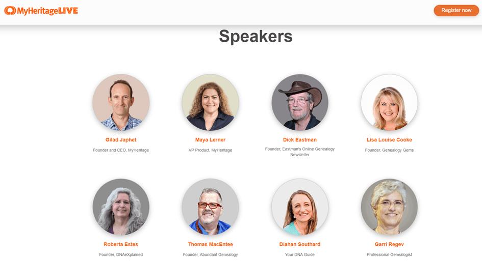 MyHeritage LIVE 2020 Tel Aviv Speakers