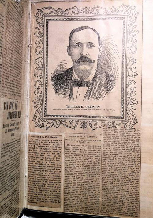 Article featuring William R. Compton in the Scrapbook
