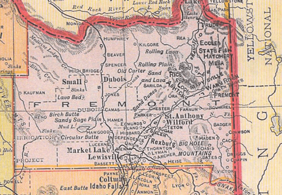 Historic Map of Idaho
