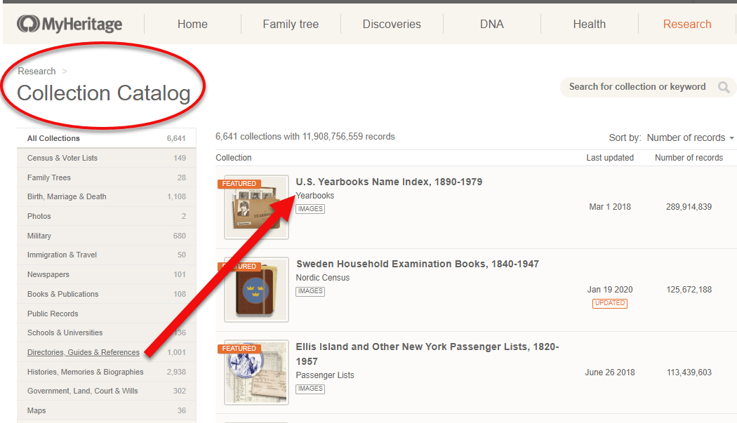 City Directories at MyHeritage