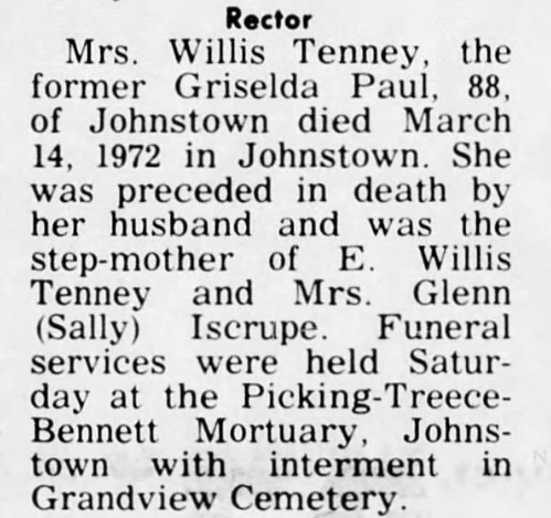 newspaper obituary