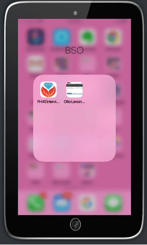 Bookmark apps in the BSO folder