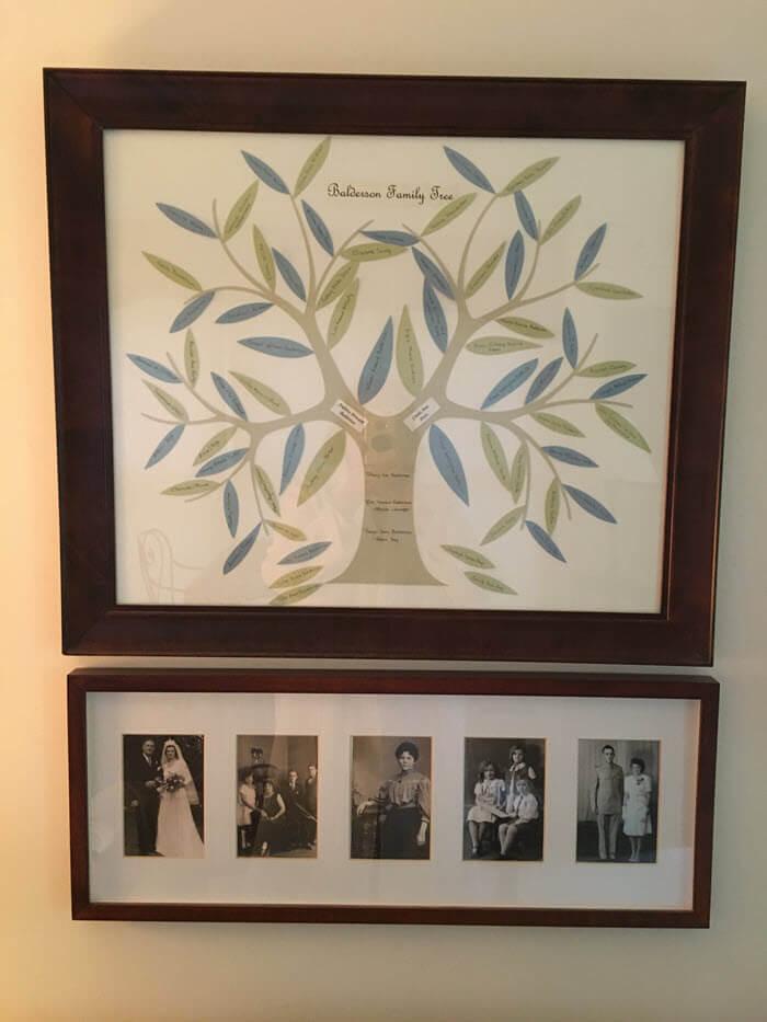 Linda's Family Tree Display