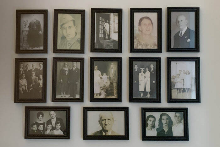 family history photo wall by maria