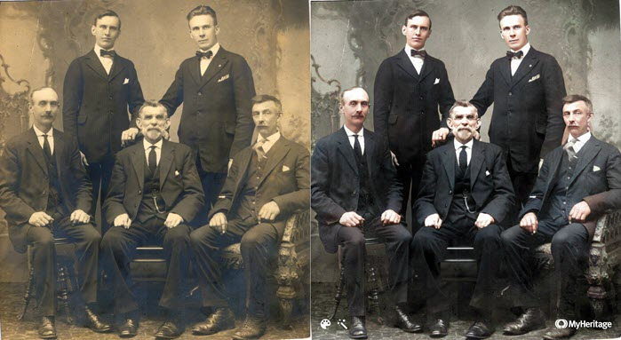 Enhance and colorize your photos at MyHeritage