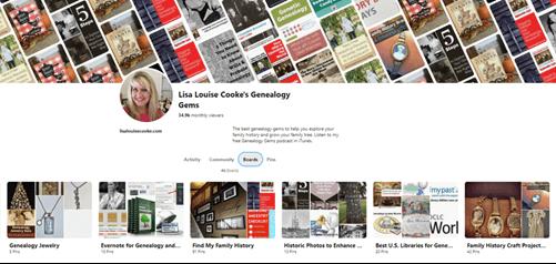Genealogy Pinterest boards