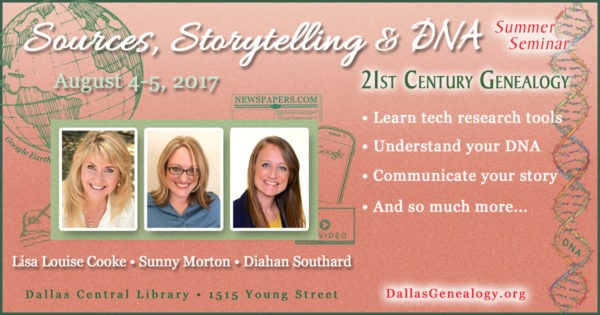 Join the Genealogy Gems Expert Team for Sources, Storytelling & DNA