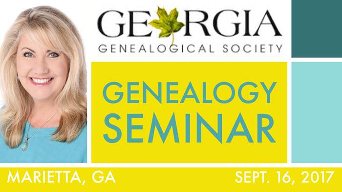 Georgia Genealogical Society Seminar
