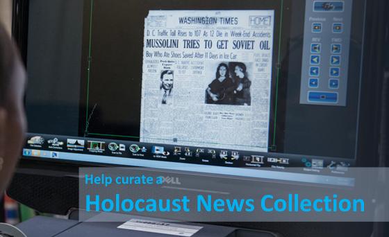 Help Curate Holocaust Newspaper Articles: Volunteers Needed