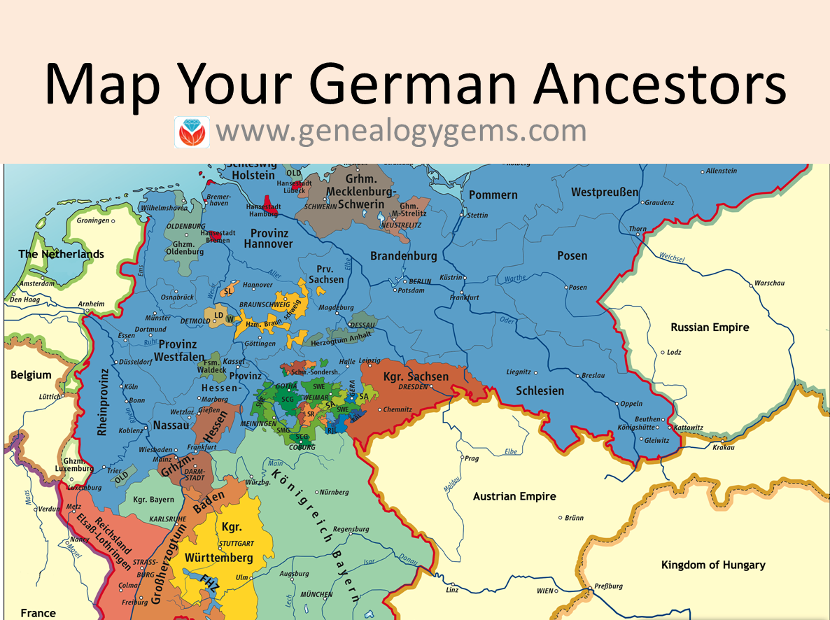 3 Free German Genealogy Websites: Maps of Germany and Poland