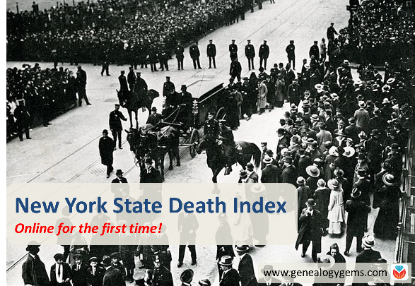 New York State Death Index Online for the First Time!