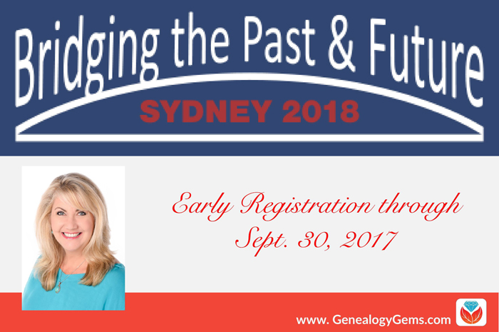 Australasian Genealogy Congress 2018: Join Me There