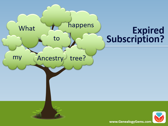 """If My Ancestry Subscription Expires, What Happens to My Tree?"""