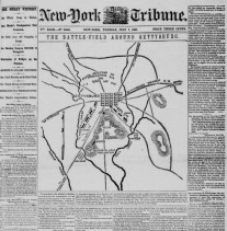 Civil War Maps for Genealogy Available in Online Newspapers