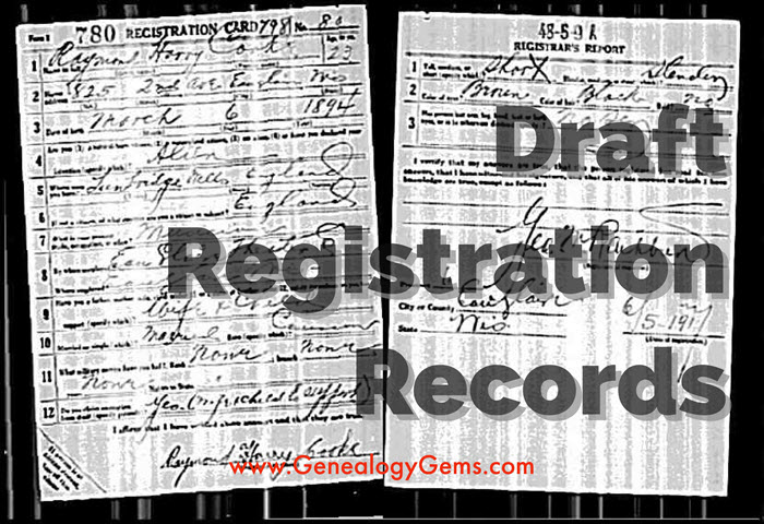 How to Find Draft Registration Records and What They May Tell You about Your Ancestors