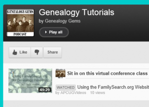 Free FamilySearch Video Class Available on YouTube